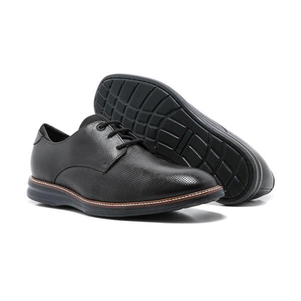 Sapato Masculino Casual Quebec Lecce Preto Couro