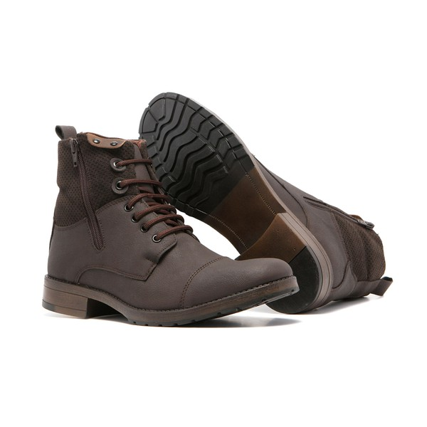 Bota Masculina Quebec Sky Brown