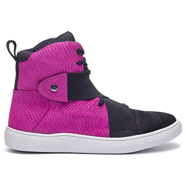Tênis Masculino Rockfit Coldplay em Couro Rosa