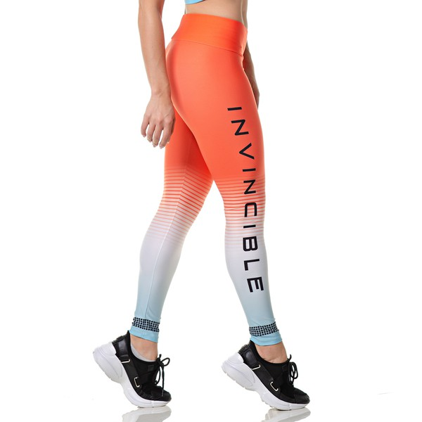Calça Legging Fitness Estampada Rock Fit Invincible