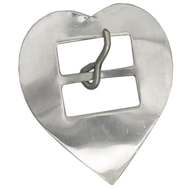 Fivela Coração para Travessão 44 mm Inox