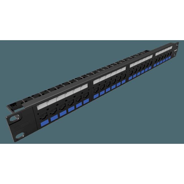Patch panel multilan cat.5e - 24 portas t568a/b