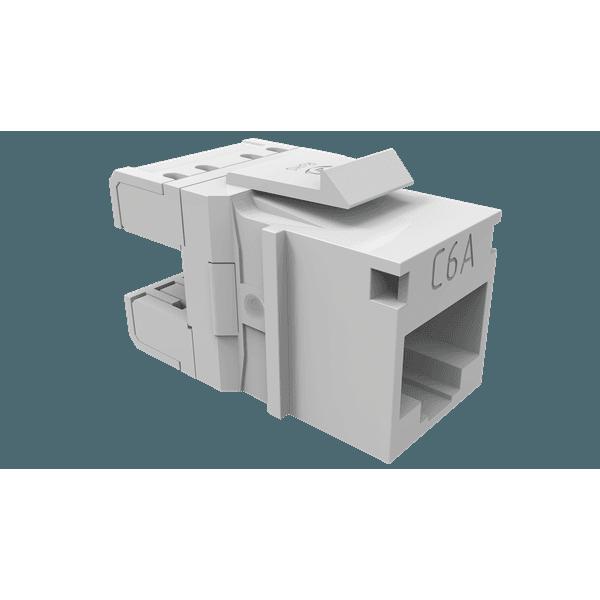 Conector fêmea gigalan augmented cat.6a t568a/b - branco