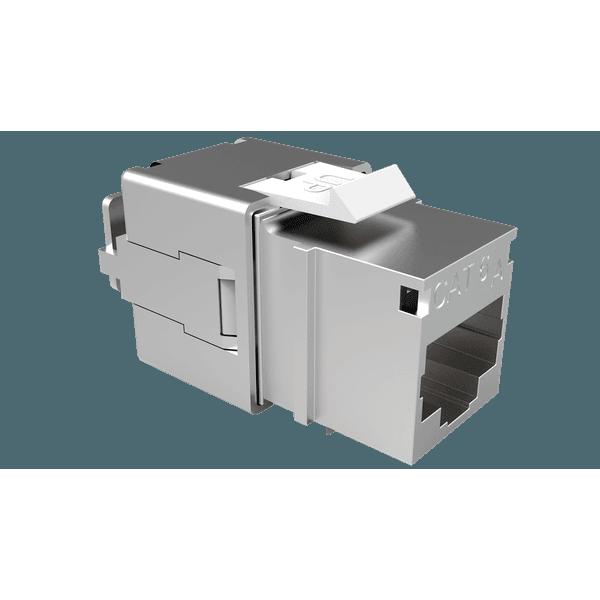 Conector femea blindado gigalan augmented cat.6a t568a/b