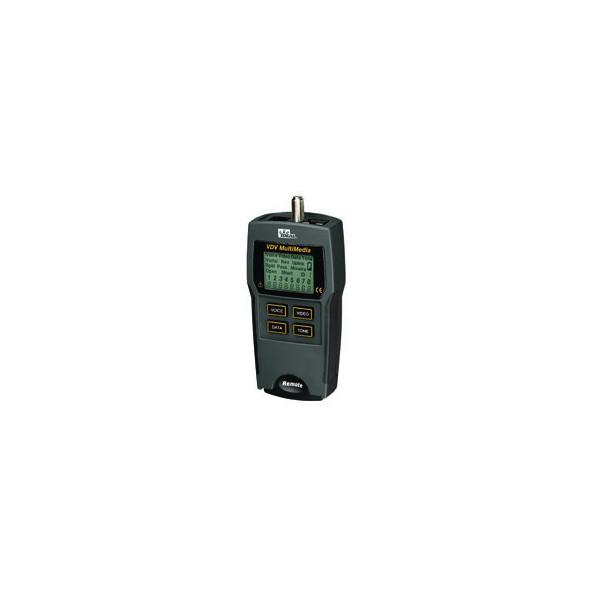 Testador de cabos de vídeo/dados/voz vdv 33-856