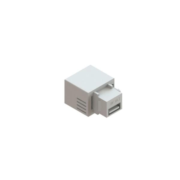 CONECTOR USB CHARGER 5V 2.1A PADRÃO KEYSTONE - BRANCO