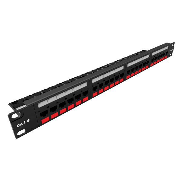 Patch panel gigalan cat.6 24 posicoes t568a/b