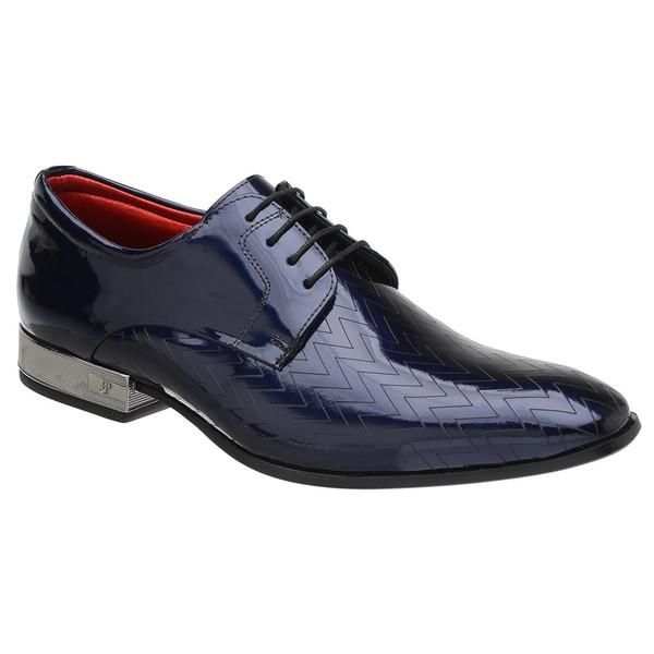 Sapato Social Jota Pe Verniz Blue Ducalle Onix