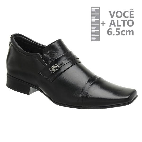 Sapato com Salto Interno Jota Pe Preto Grow Air Conna