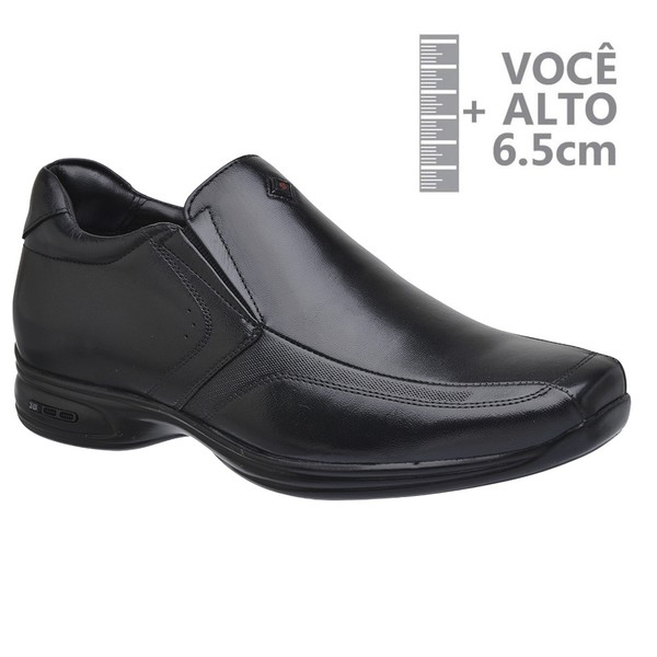 Sapato com Salto Interno Jota Pe Preto Grow Air Vision