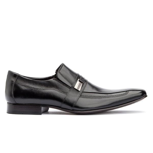 Sapato Social Preto Solado de Couro