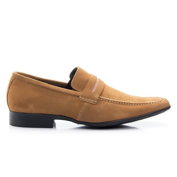 Sapato Mocassim Caramelo em camurça