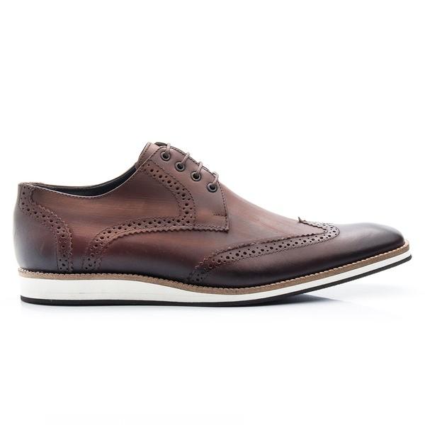 Sapato Casual Oxford Café Estonado