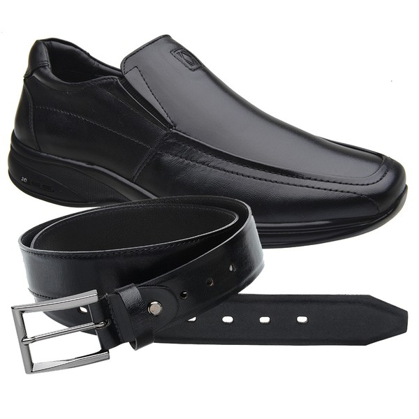 Sapato Jota Pe Preto 3D Air Imax + Cinto de Couro
