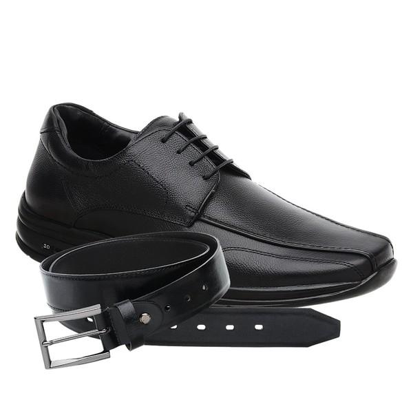 Sapato Jota Pe 3D Air Preto + Cinto de Couro