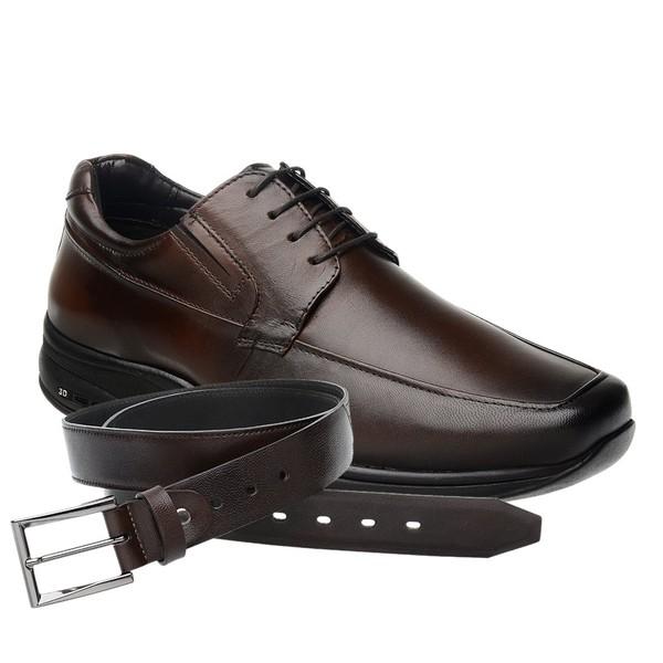 Sapato Jota Pe 3D Marrom Air Imax + Cinto de Couro