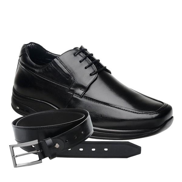 Sapato Jota Pe 3D Preto Air Imax + Cinto de Couro