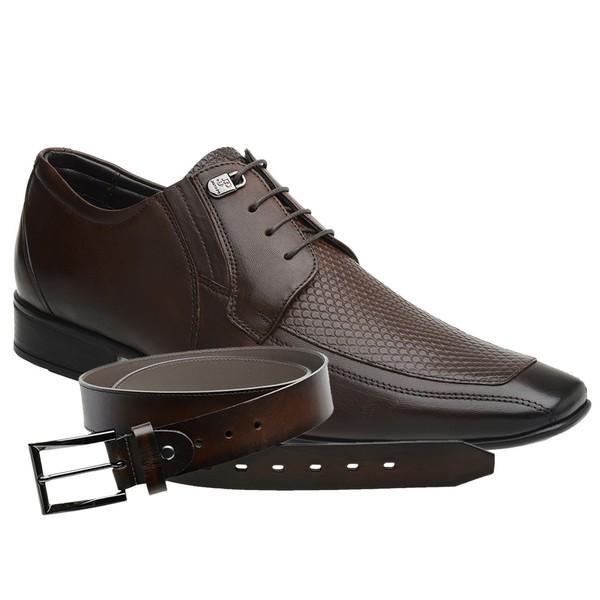 Sapato Jota Pe Marrom Air Manhattan + Cinto de Couro