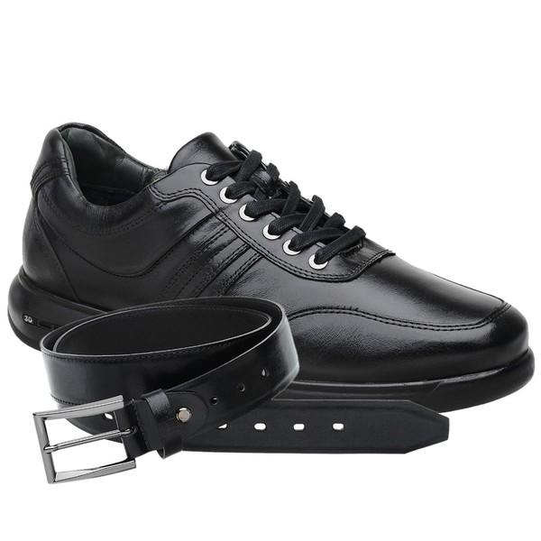 Sapato Jota Pe 3D Total Air Preto + Cinto de Couro