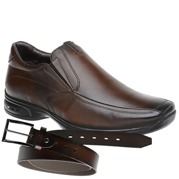Sapato Jota Pe 3D Air Vision Marrom + Cinto de Couro