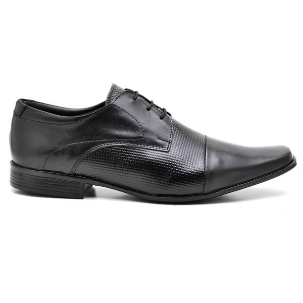 Sapato Couro Preto Oxford Conforto