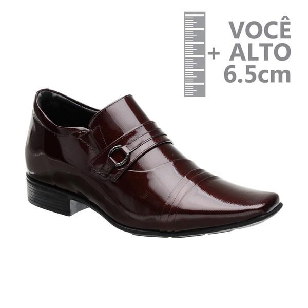 Sapato com Salto Interno Jota Pe Vinho Grow Air