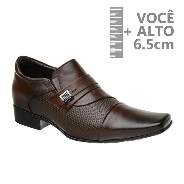 Sapato com Salto Interno Jota Pe Marrom Grow Air Conna