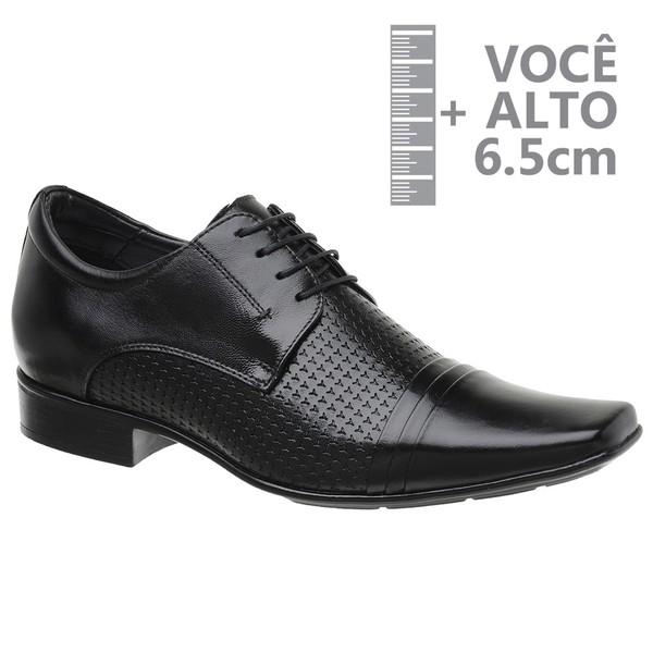 Sapato com Salto Interno Jota Pe Preto Grow Air Connar