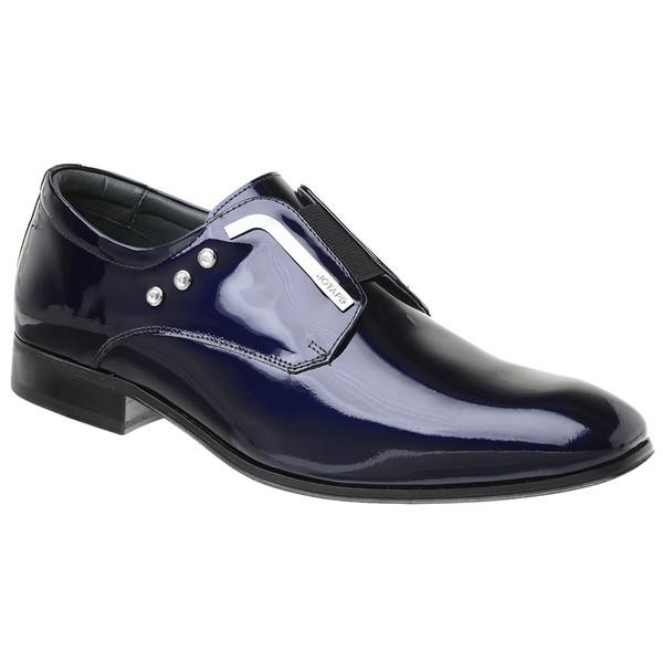 Sapato Social Jota Pe Verniz Purple Blue Salvatore