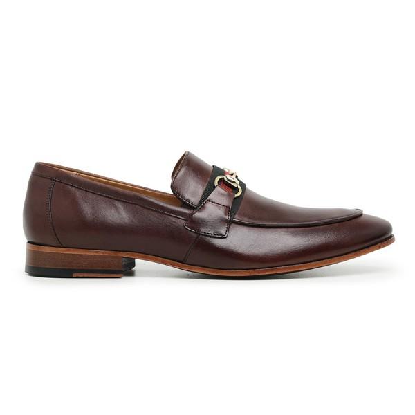 Sapato Social Couro Marrom Mouro Premium