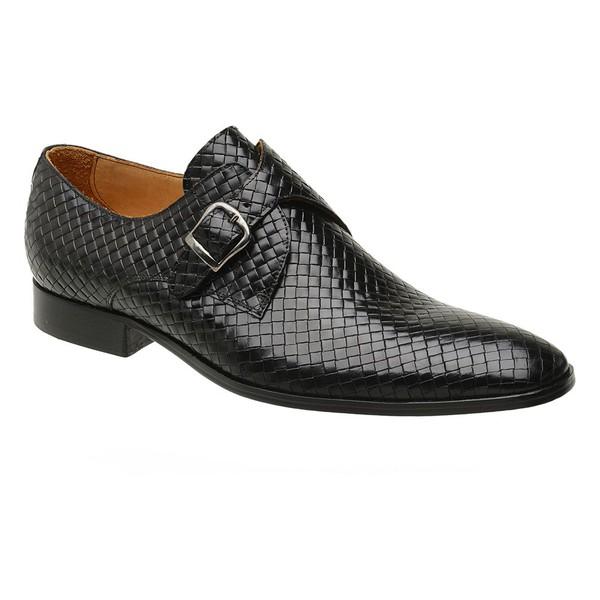Sapato Social Preto Trançado