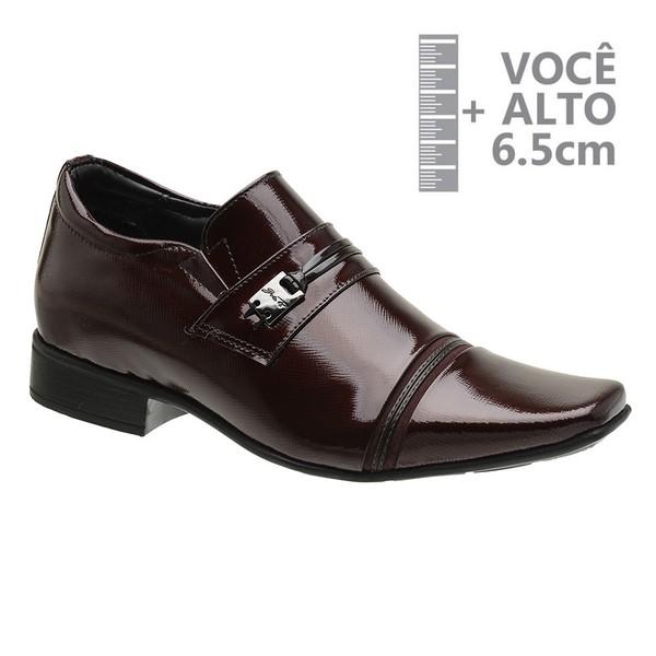 Sapato com Salto Interno Vinho Jota Pe Grow Air