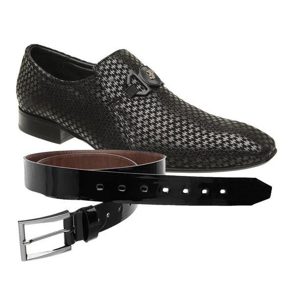 Sapato Social Jota Pe New Man + Cinto Envernizado