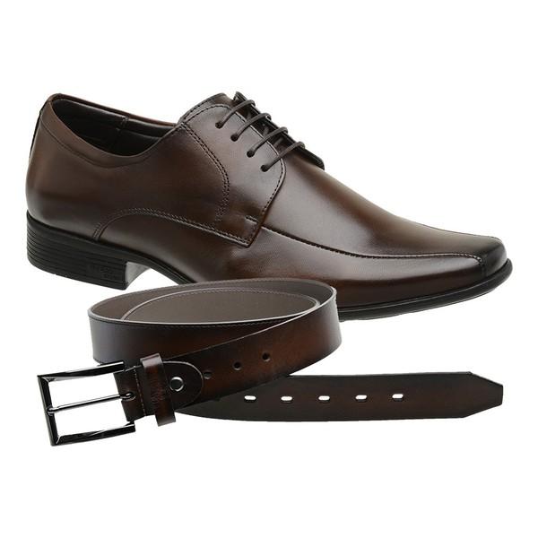 Sapato Jota Pe Marrom Air King + Cinto de Couro