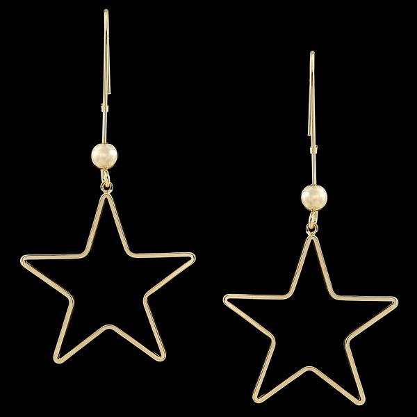 Brinco Folheado à Ouro com Acessórios Estrela