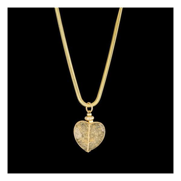Colar folheado à ouro 18k coração