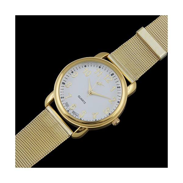 Relógio Feminino Pulseira Malha