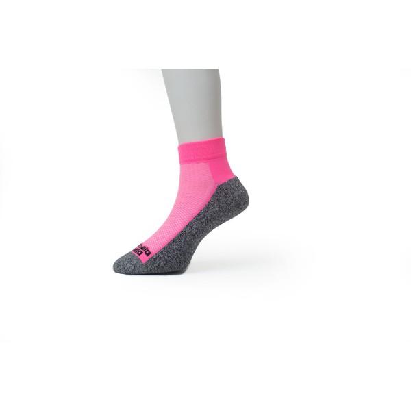 Meia Sport Cano Curto Premium Rosa Neon