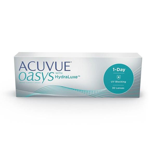Acuvue Oasys 1-Day para Correção de Miopia ( - ) com HydraLuxe Caixa Com 30 Lentes (15 Pares) do Mesmo Grau