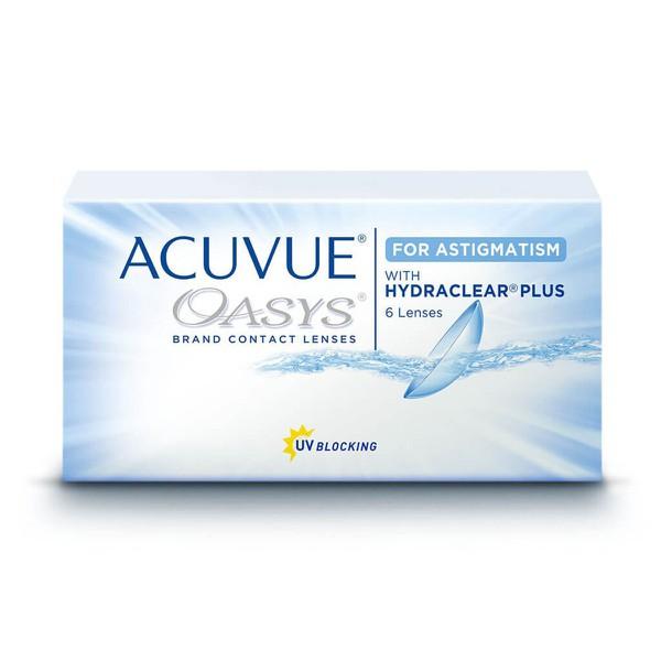 Acuvue Oasys para Astigmatismo com Hydraclear Plus - Caixa com 6 Lentes ( 3 pares ) Mesmo Grau