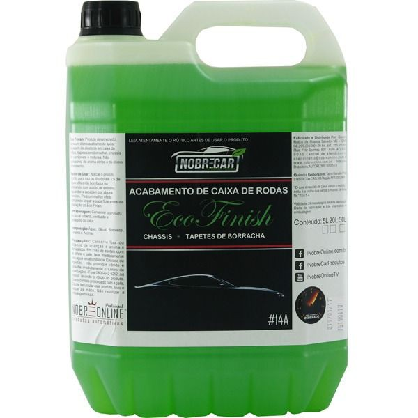 Restaurador de caixas de rodas Eco Finish 5l (nobre Car) - 536