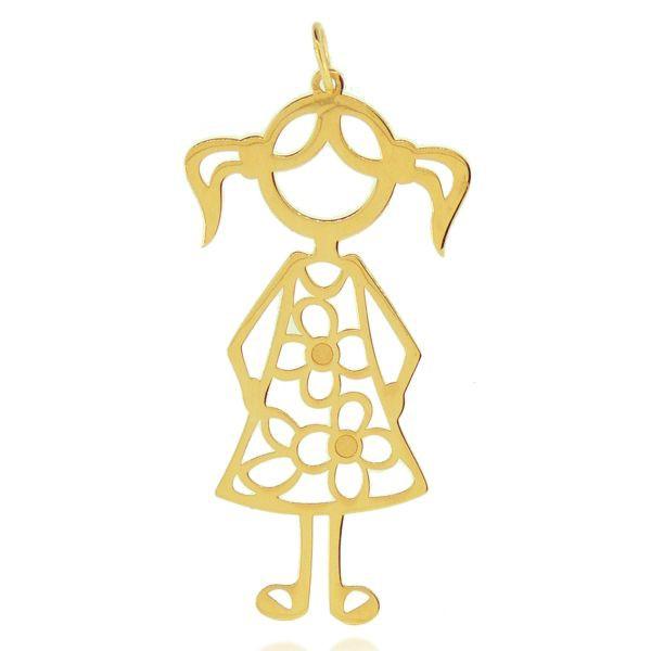 Pingente de Filha Menina em Ouro 18K