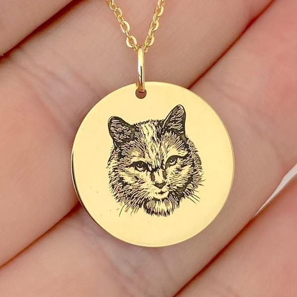 Pingente Gato Angorá em Ouro 18K com Nome Personalizável