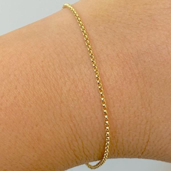 Pulseira Portuguesa de Ouro 18K 19cm