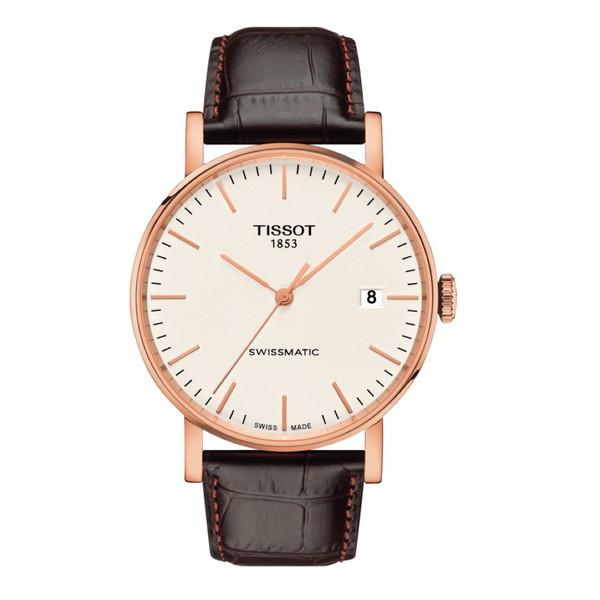 Relógio Tissot Masculino Everytime Swissmatic Automático Couro