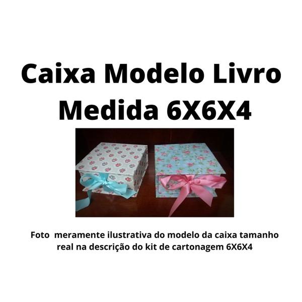 KITS DE CARTONAGEM PARA CAIXA LIVRO TAMANHO 6X6X4 - 10 KITS