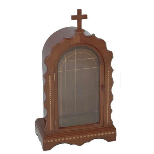 Oratório Em Madeira Maciça