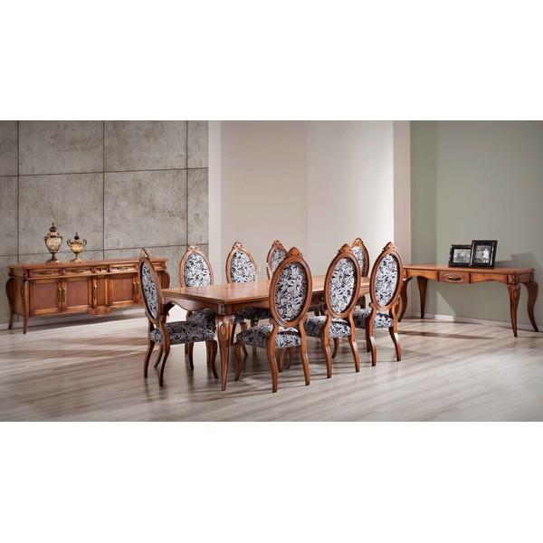 Sala De Jantar Completa Em Madeira Maciça - Linha Heart Com Mesa De 2,50m, 8 Cadeiras, 1 Balcão e 1 Aparador / Leia a Descrição e Monte Sua Decoração