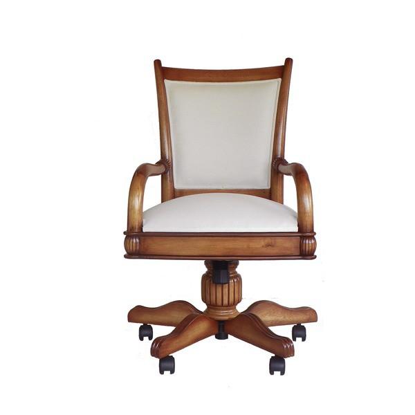 Cadeira Victory Para Escritório Giratória Em Madeira Maciça