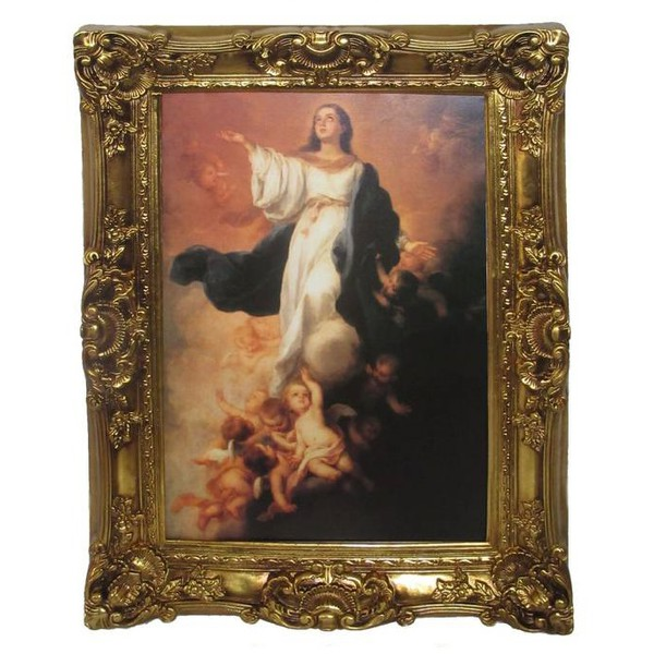 Quadro Clássico - Assumption Of The Blessed Virgin Mary By Bartolome Esteban Murillo
